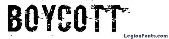 Boycott Font, Halloween Fonts