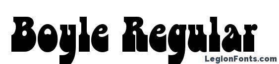 Boyle Regular Font