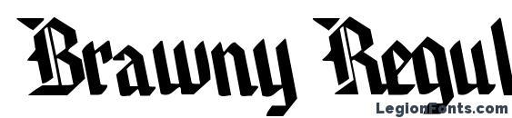 Шрифт Brawny Regular