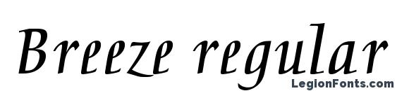 Breeze regular Font