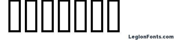 Шрифт Bridges
