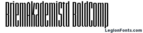 шрифт BriemAkademiStd BoldComp, бесплатный шрифт BriemAkademiStd BoldComp, предварительный просмотр шрифта BriemAkademiStd BoldComp