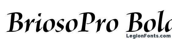 BriosoPro BoldItDisp Font