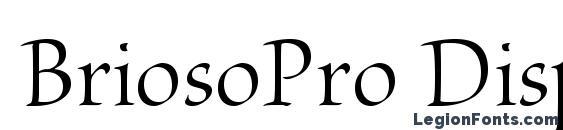 Шрифт BriosoPro Disp