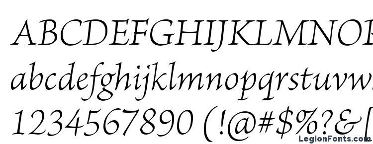 glyphs BriosoPro LightIt font, сharacters BriosoPro LightIt font, symbols BriosoPro LightIt font, character map BriosoPro LightIt font, preview BriosoPro LightIt font, abc BriosoPro LightIt font, BriosoPro LightIt font
