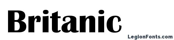 Britanic Font