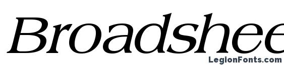 Шрифт Broadsheet ldo bold italic