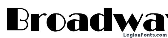 Broadway Regular DB font, free Broadway Regular DB font, preview Broadway Regular DB font