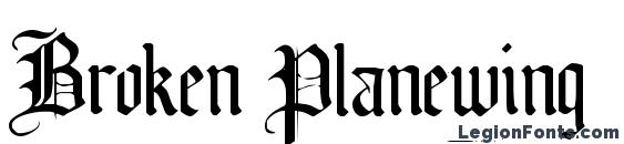 Broken Planewing Font, Tattoo Fonts