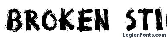 Broken stick Font