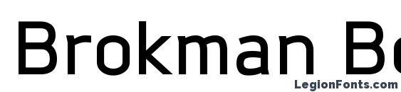 Шрифт Brokman Bold