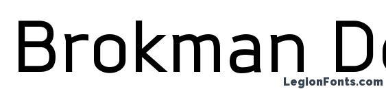 Brokman DemiBold font, free Brokman DemiBold font, preview Brokman DemiBold font