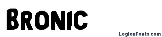 Шрифт Bronic