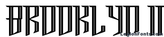 шрифт Brooklyn Inline, бесплатный шрифт Brooklyn Inline, предварительный просмотр шрифта Brooklyn Inline