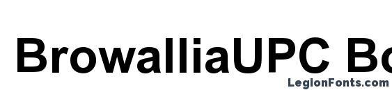 Шрифт BrowalliaUPC Bold