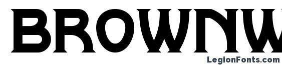 Шрифт Brownwood NF