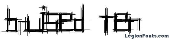 Bruised ten Font