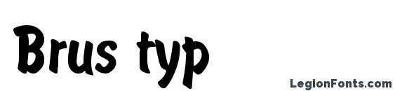 Brus typ font, free Brus typ font, preview Brus typ font