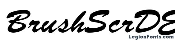 шрифт BrushScrDEE, бесплатный шрифт BrushScrDEE, предварительный просмотр шрифта BrushScrDEE