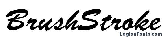 Шрифт BrushStroke