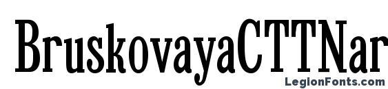 BruskovayaCTTNarrow Font