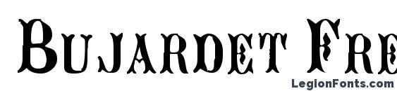 Bujardet Freres Font, Calligraphy Fonts