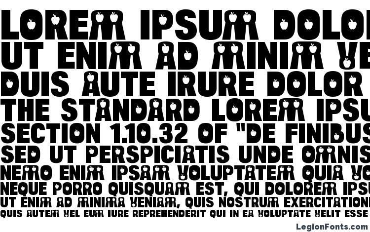 specimens BulltoadApple Regular font, sample BulltoadApple Regular font, an example of writing BulltoadApple Regular font, review BulltoadApple Regular font, preview BulltoadApple Regular font, BulltoadApple Regular font