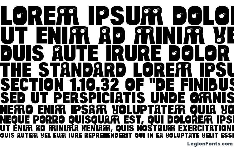 specimens BulltoadBomb Regular font, sample BulltoadBomb Regular font, an example of writing BulltoadBomb Regular font, review BulltoadBomb Regular font, preview BulltoadBomb Regular font, BulltoadBomb Regular font