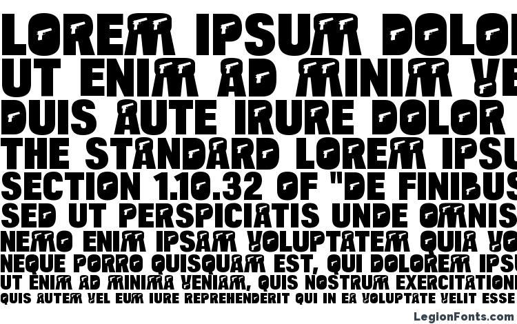 specimens BulltoadPistol Regular font, sample BulltoadPistol Regular font, an example of writing BulltoadPistol Regular font, review BulltoadPistol Regular font, preview BulltoadPistol Regular font, BulltoadPistol Regular font