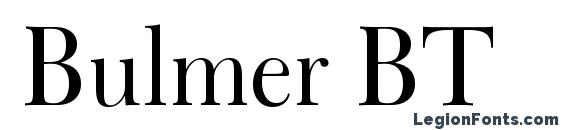 Bulmer BT Font