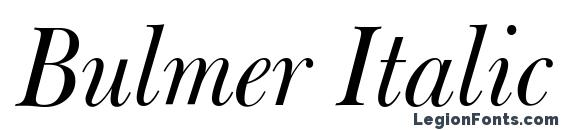 Bulmer Italic BT Font
