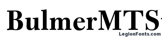 BulmerMTStd Bold Font