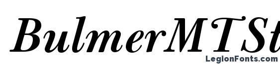 BulmerMTStd SemiBoldItalic Font