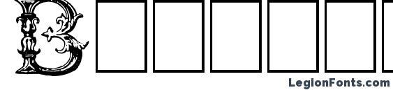 Шрифт Burgoyne Initials