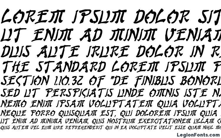 specimens Bushido Bold Italic font, sample Bushido Bold Italic font, an example of writing Bushido Bold Italic font, review Bushido Bold Italic font, preview Bushido Bold Italic font, Bushido Bold Italic font
