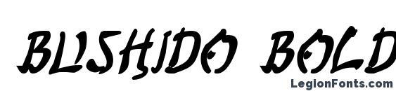 Шрифт Bushido Bold Italic