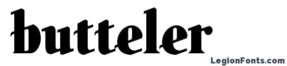 шрифт butteler, бесплатный шрифт butteler, предварительный просмотр шрифта butteler