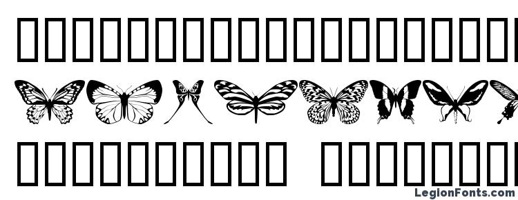 глифы шрифта butterflips, символы шрифта butterflips, символьная карта шрифта butterflips, предварительный просмотр шрифта butterflips, алфавит шрифта butterflips, шрифт butterflips