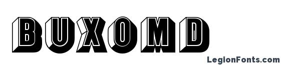 BuxomD Font, 3D Fonts