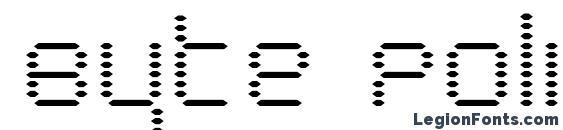 Byte Police font, free Byte Police font, preview Byte Police font