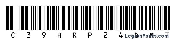 Шрифт C39HrP24DmTt