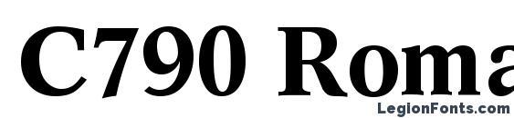 Шрифт C790 Roman Bold