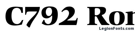 Шрифт C792 Roman Bold