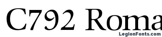 Шрифт C792 Roman Regular
