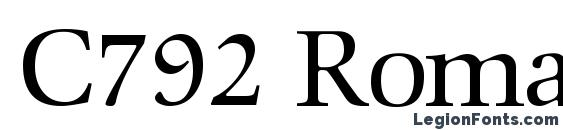 C792 Roman Regular Font