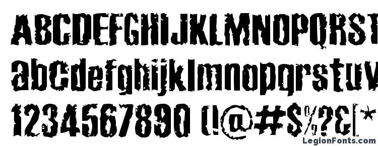 глифы шрифта Cabeen crappy, символы шрифта Cabeen crappy, символьная карта шрифта Cabeen crappy, предварительный просмотр шрифта Cabeen crappy, алфавит шрифта Cabeen crappy, шрифт Cabeen crappy