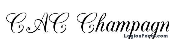 CAC Champagne font, free CAC Champagne font, preview CAC Champagne font