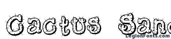 Cactus Sandwich FM Font, 3D Fonts
