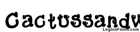 Cactussandwichfill font, free Cactussandwichfill font, preview Cactussandwichfill font