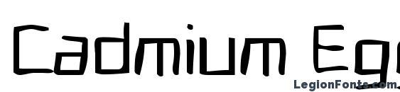 Cadmium Egg Font